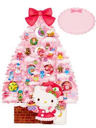 hello kitty pink christmas tree pop up greeting card premium