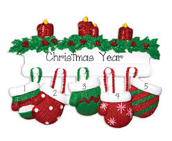 family of 5 my personalized ornaments