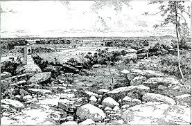 Round Top Texas Map Battle Of Gettysburg
