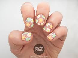 negative space flower nail art tutorial more com