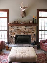 fireplace rocks home decor