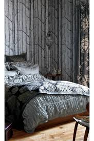 grey wallpaper accent wall living room ideas curtain bedroom in