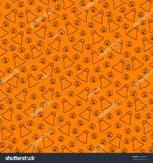 repeating halloween background halloween background repeating ghost pumpkins drawings stock