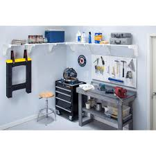 ez shelf 40 in 75 in expandable large garage shelf in white