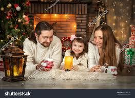 portrait happy family three people near stock photo 519780136