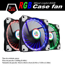 Alseye 120mm Computer Case Fan Multicolor Rgb Led Fan Cooler