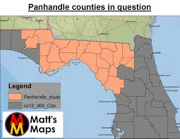 Panhandle Florida Map by Florida U0027s Panhandle Does Race Or Party Sink It For Obama In The