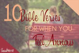 bible verses feel anxious