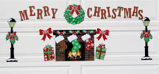 magnetic christmas decorations for garage doors christmas