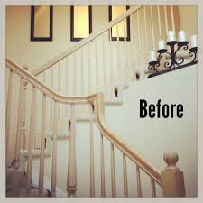 Stripping Paint From Wood Banisters Michelle Paige Blogs Before And After Of Painting A Banister