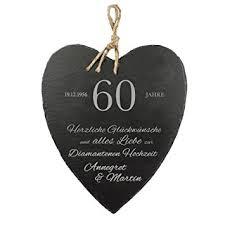 60 hochzeitstag geschenke de schieferherz mit gravur zur diamantenen hochzeit