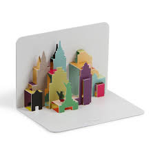 york city skyline 3d pop up card