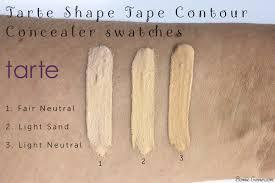 light sand tarte concealer tarte shape tape contour concealer my review bonnie garner
