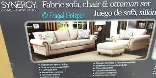 costco synergy home fabric sofa chair ottoman set 899 99