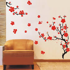 plum blossom flowers and branches wall sticker wall art decals plum blossom flowers and branches wall sticker
