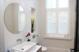 Bathroom Window Decorating Ideas Bathroom Interior Simple Plantation Shutters For Bathroom Window