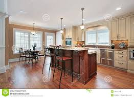 2 Tier Kitchen Island Kitchen With Two Tiered Island Royalty Free Stock Photos Image