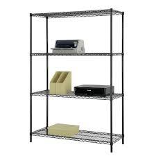 5 Shelf Wire Shelving Excel 48 In W X 60 In H X 18 In D Multi Purpose 4 Tier Wire