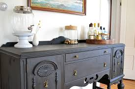Antique Painted Sideboard Refinishing An Antique Buffet Using Annie Sloan Chalk Paint In