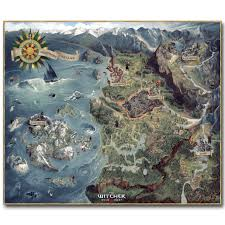 World Map Poster Large The Map Of Witcher 3 Wild Hunt Art Silk Poster Huge Pritn 23x20