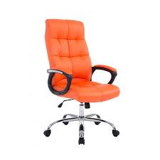 fauteuil chaise de bureau ergonomique hauteur réglable orange