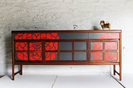 Red Modern Furniture by Mid Century Modern Furniture Gorgeously Revamped By Lucy Turner