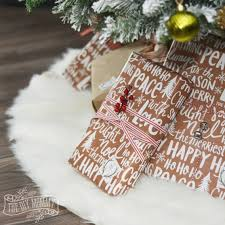 ideas tree skirts to make a no sew faux fur