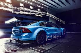 volvo race car polestar doing their homework before the race season with the s60