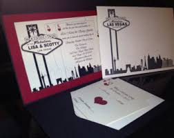 wedding invitations las vegas las vegas themed wedding invitation custom colors