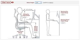 Average Office Desk Height Calculate Ideal Heights For Your Ergonomic Office Desk Chair