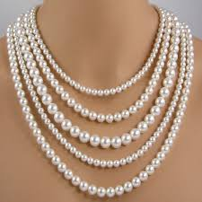 pearl necklace white images Five strand white pearl necklace multi strand pearl necklace multi jpg