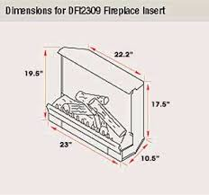 23 Inch Electric Fireplace Insert by Dimplex 23in Electric Fireplace Insert Dfi2309 Wesellit Waterloo