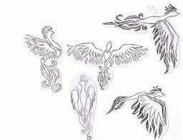 grey phoenix and flower tattoo designs real photo pictures