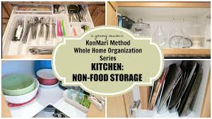 konmari organization kitchen non food storage before u0026 after