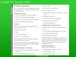 ict security policies security policies what is security what is a