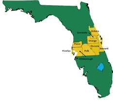 Florida Regions Map by Central Florida Hidta