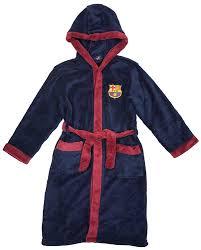 robe de chambre junior officielle fc barcelone football fcb barca peignoir peignoir de bain