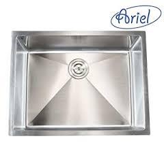ariel 26 inch stainless steel undermount single bowl kitchen