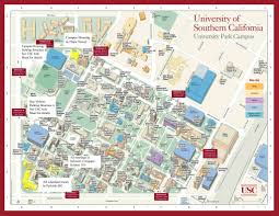 Fresno State Parking Map by University Of Southern California Map California Map