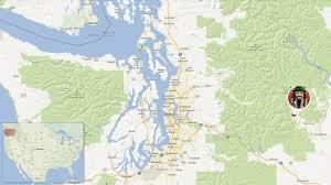 Seattle On A Map Of Washington by Maps Leavenworth Washington