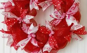 ribbon wreaths easy mesh ribbon s day wreath