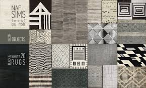 Decor Rugs Lana Cc Finds Black U0026 White Rug Collection By Nafsims Ts4