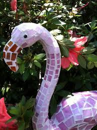 garden mosaic ideas flamingo mosaic garden art made from plastic pink dollar store