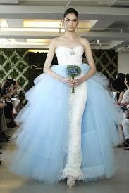 oscar de la renta brautkleid wedding dress trend two tone bridal gowns oscar de la renta ivory