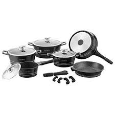 une batterie de cuisine royalty line batterie de cuisine 14 pieces revetement marbre