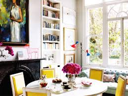 Colorful Dining Room by Images From Elle Decor Inspiring Image Of Some Yellow Dining