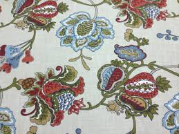 Jacobean Floral Curtains Curtain Jacobean Floral Fabric Exceptional Terra Cotta Upholstery