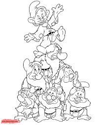 snow white and the seven dwarfs coloring pages 5 disney coloring