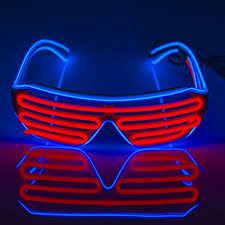 party sunglasses with lights amazon com fronnor el glasses el wire fashion neon led light up