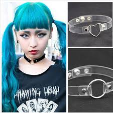 anime choker necklace images 2016 punk ladies gothic leather anime choker necklace heart round jpg